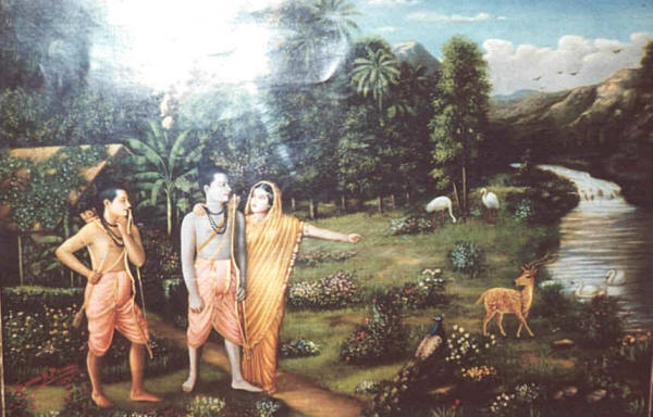 a picture from the Ramayana, Raam in the middle