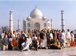 Group Photo at Taj Mahal